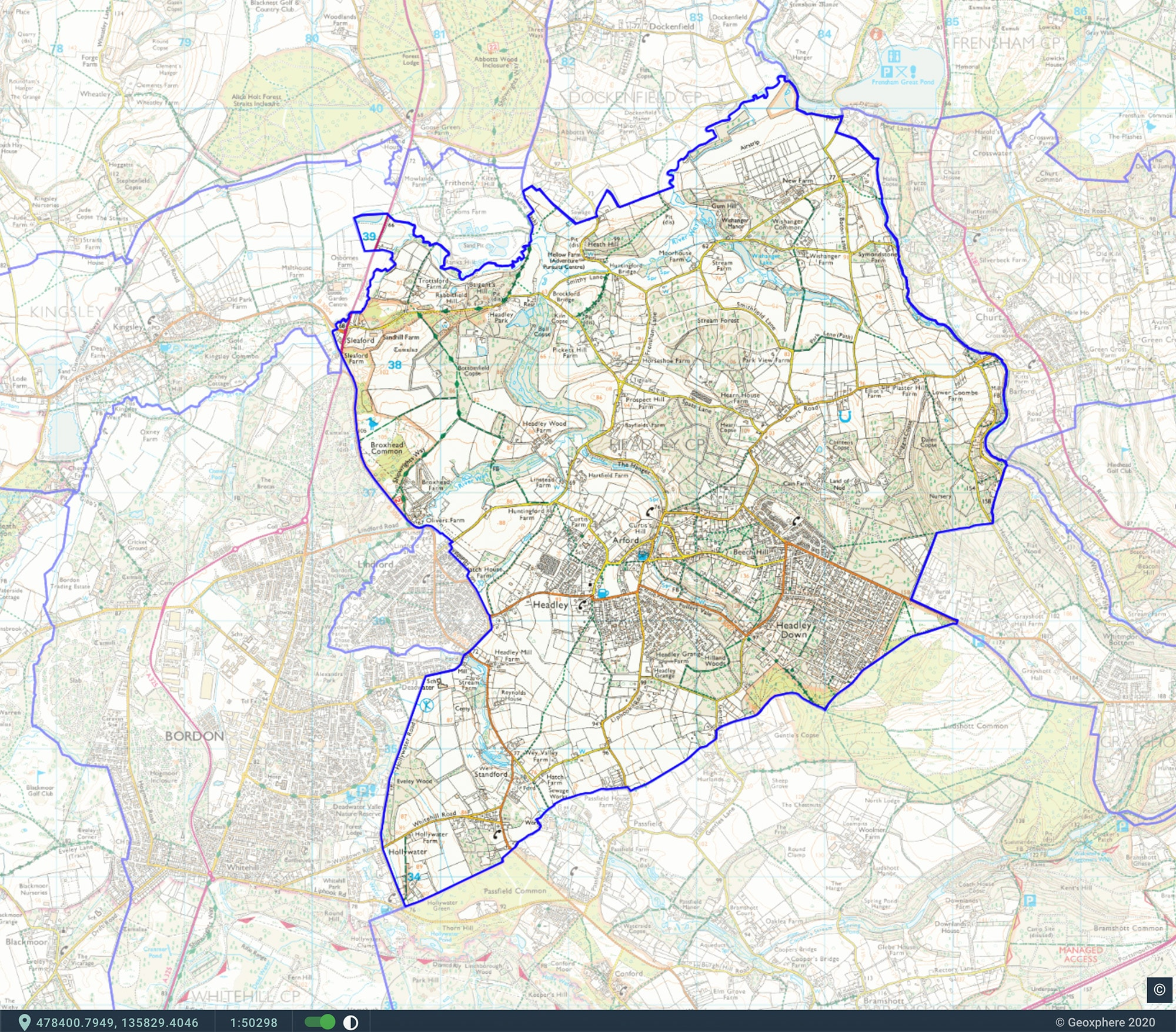 Headley Parish Map
