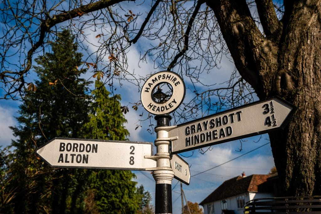 Old Iron Signpost in Headley Village, Hampshire